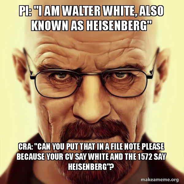 pi   u0026quot i am walter white  also known as heisenberg u0026quot  cra