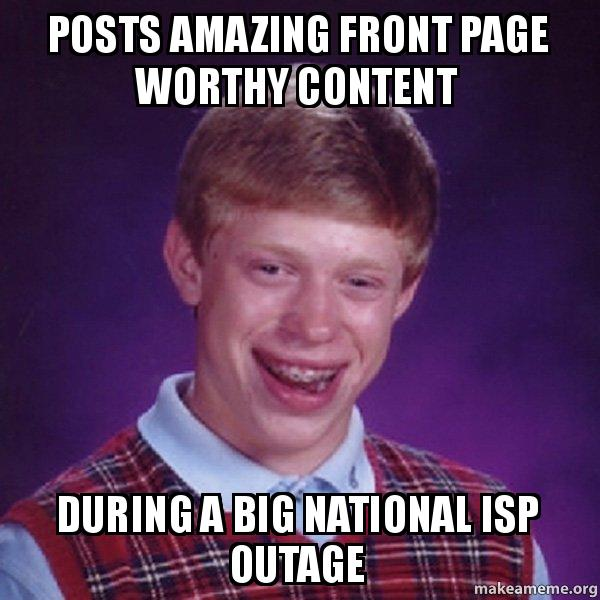 Amazing Org: Posts Amazing Front Page Worthy Content During A Big