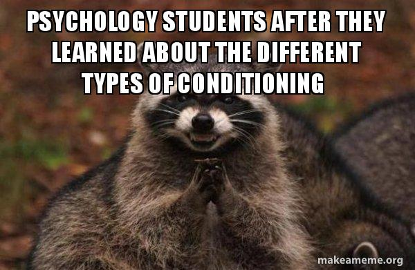 types of conditioning psychology