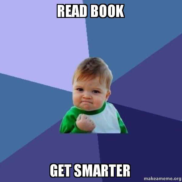 Kết quả hình ảnh cho read book meme