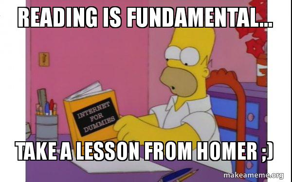 Reading Is Fundamental Take A Lesson From Homer Computer