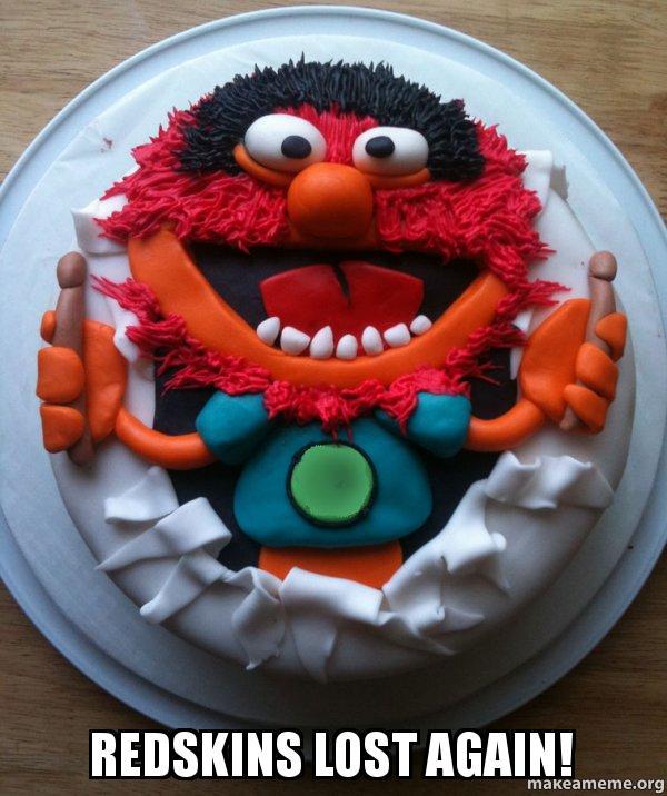 Redskins lost again! - Cake Day   Make a Meme