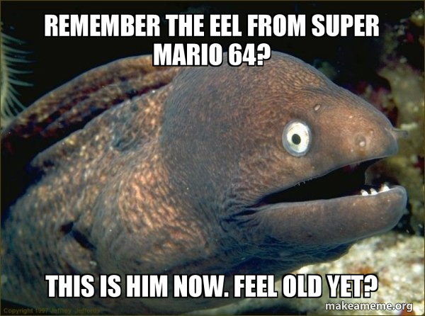 Remember The Eel From Super Mario 64 This Is Him Now Feel Old