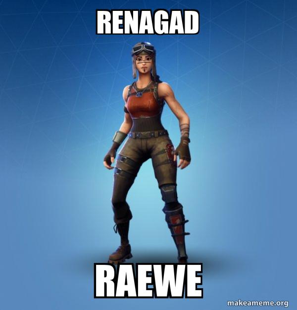 Renegade Raider Fortnite Skin meme