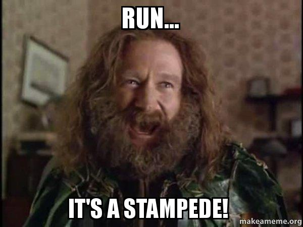 Run It S A Stampede Robin Williams What Year Is It