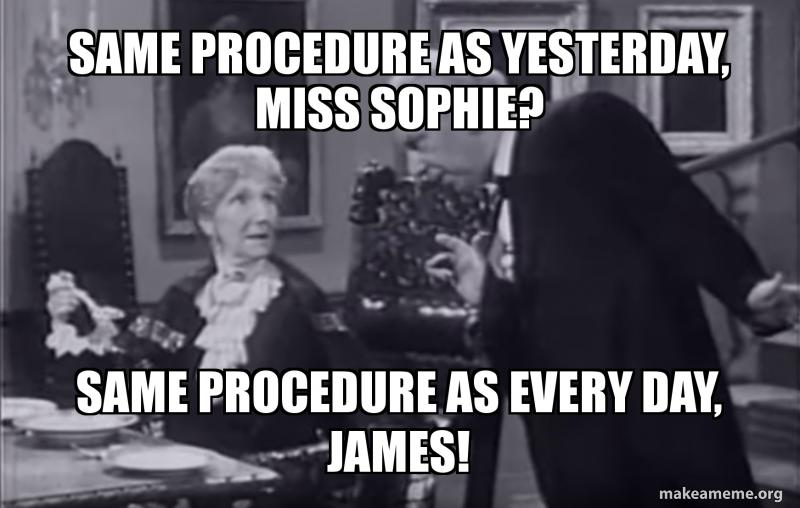 Same Procedure As Every Year