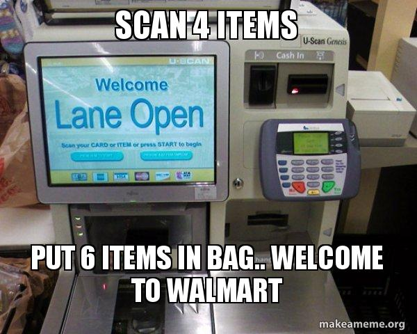 Self Checkout Machine meme