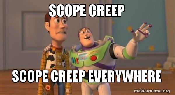 Image result for scope creep images