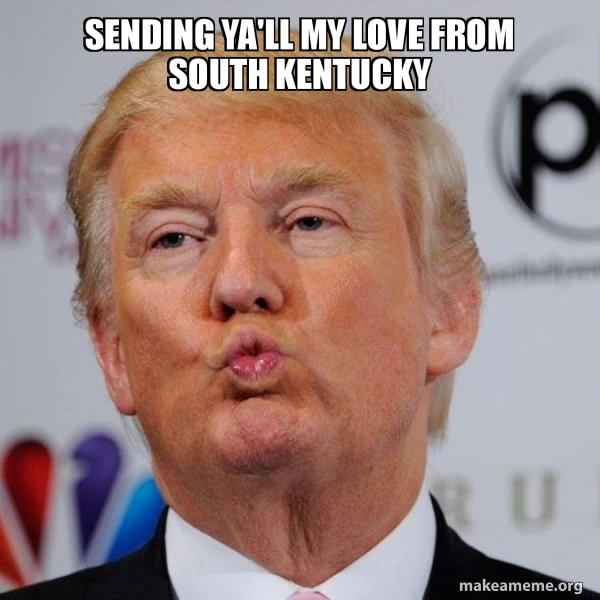 Donald Trump Kissing meme