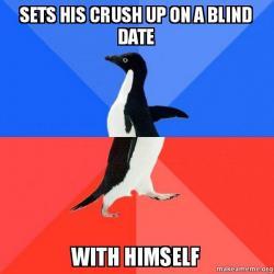 Socially Awkward Awesome Penguin meme