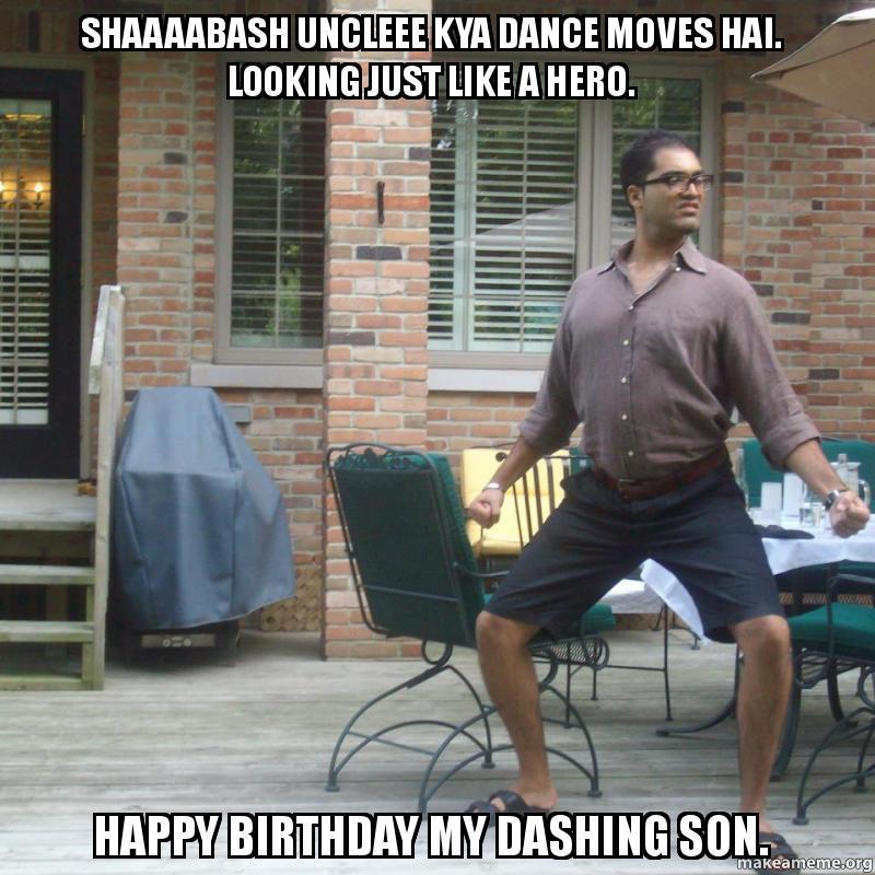 Shaaaabash Uncleee Kya Dance Moves Hai. Looking Just Like