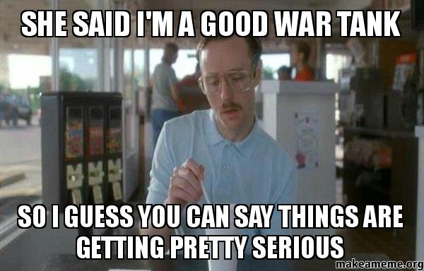 you said war: