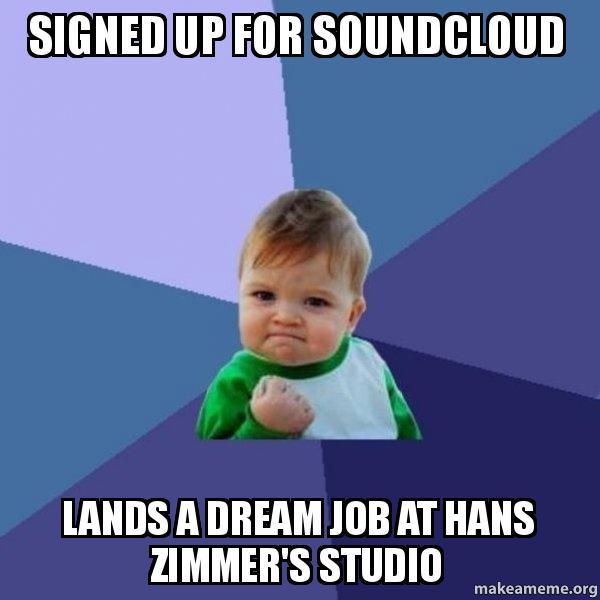 Dream Kitchen Hans Zimmer: Signed Up For Soundcloud Lands A Dream Job At Hans Zimmer