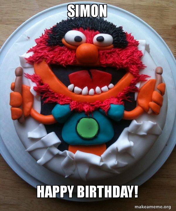 Simon Happy Birthday Cake Day Make A Meme
