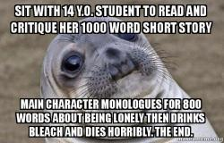 Squeamish Seal meme