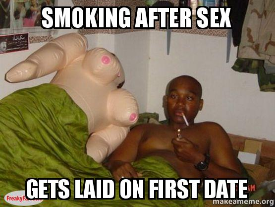 Smoking after sexual climax