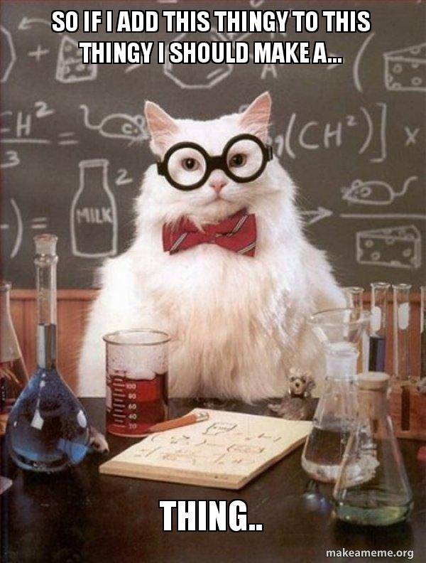 Chemistry Cat meme