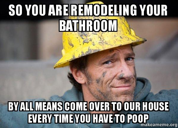 So You Are Remodeling Your Bathroom By All Means Come Over