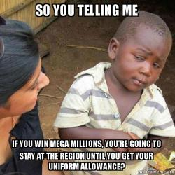 so you telling 91bcqc so you telling me if you win mega millions, you're going to stay at