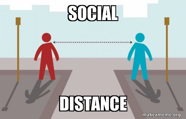 Coronavirus Social Distancing meme