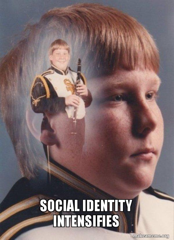 social identity intensifies social identity intensifies ptsd clarinet boy make a meme