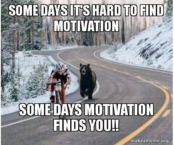 some days it s hard to find motivation some days motivation finds