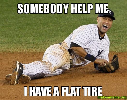 how to tell if you have a flat tire