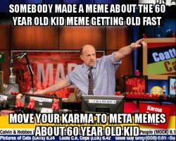 somebody made a somebody made a meme about the 60 year old kid meme getting old