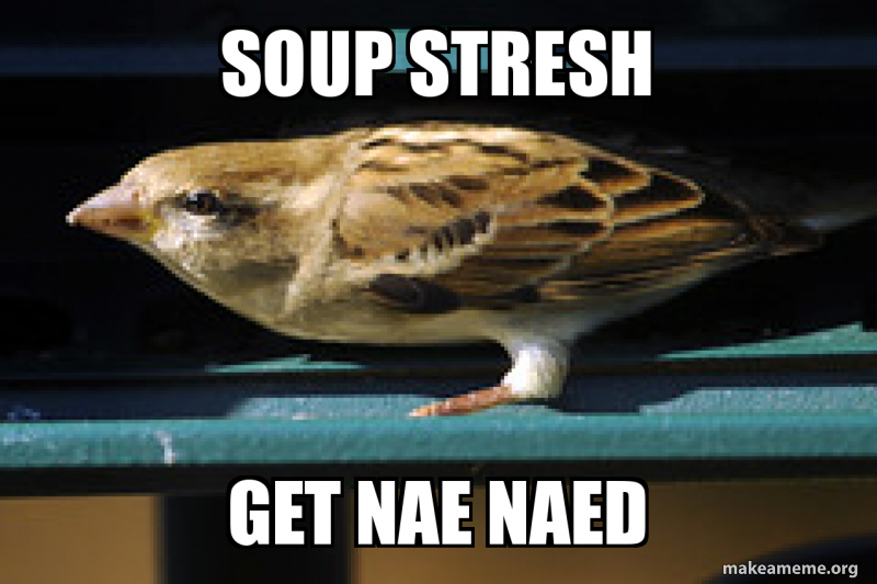 Soup Stresh Get Nae Naed You Gonna Get Nae Naed Make A Meme Wearetoonz invented the nae nae in their basement practice space, while preparing for a show. soup stresh get nae naed you gonna
