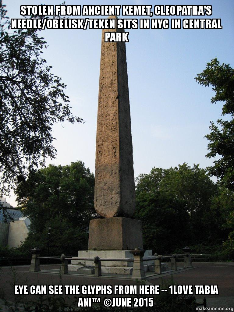 Stolen from Ancient Kemet, Cleopatra's Needle/Obelisk/Teken Sits in ...