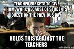 Do child forgets homework