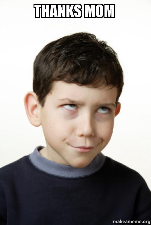 Little Kid Rolling His Eyes