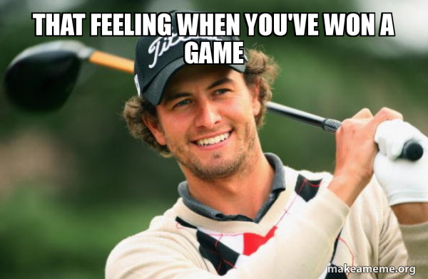 Adam Scott Golfer meme