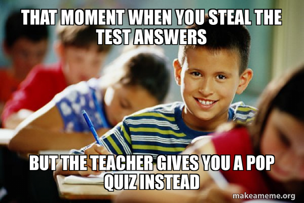 Scumbag Student meme