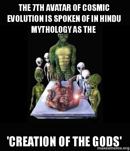 The 7th Avatar of cosmic evolution is spoken of in Hindu mythology