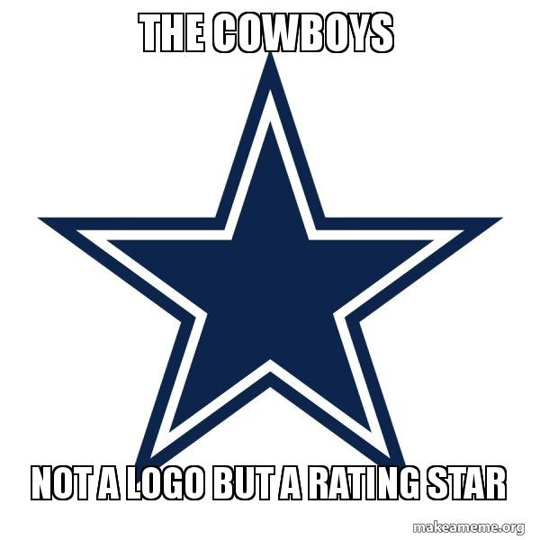 the cowboys not wku50g the cowboys not a logo but a rating star dallas cowboys make a