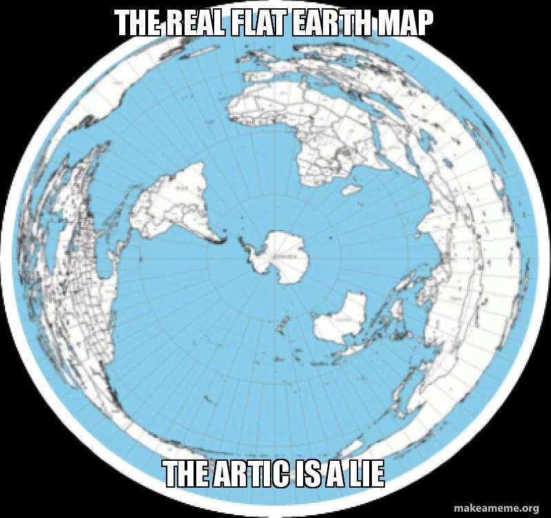 THE REAL FLAT EARTH MAP THE ARTIC IS A LIE   THE ARTIC IS A LIE