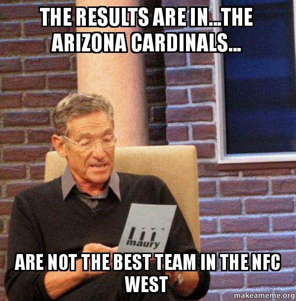 Consider, that Arizona cardinals suck personal
