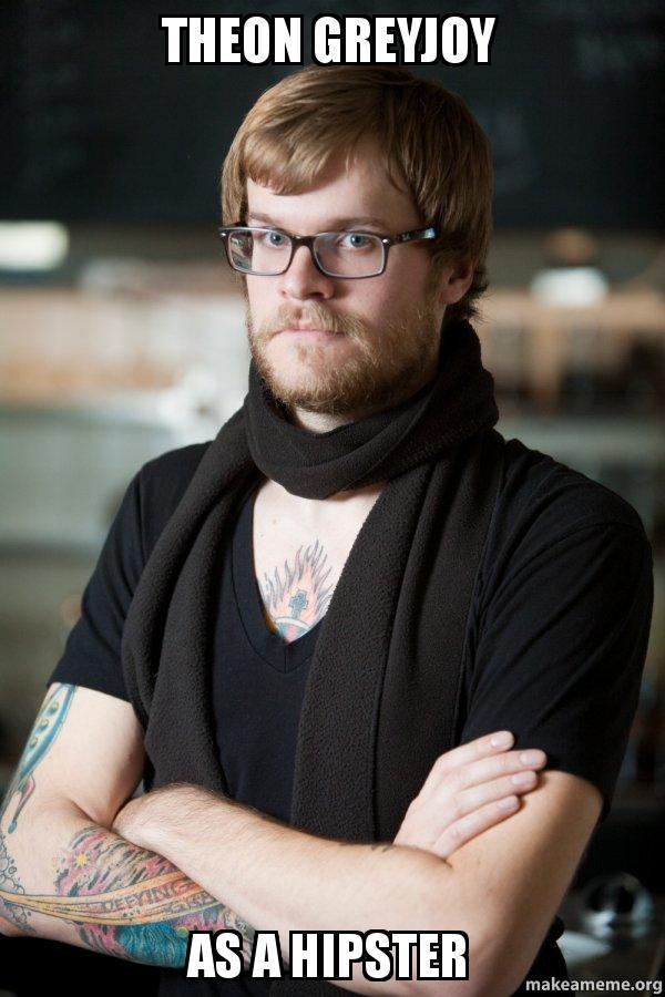 theon greyjoy as theon greyjoy as a hipster hipster barista make a meme