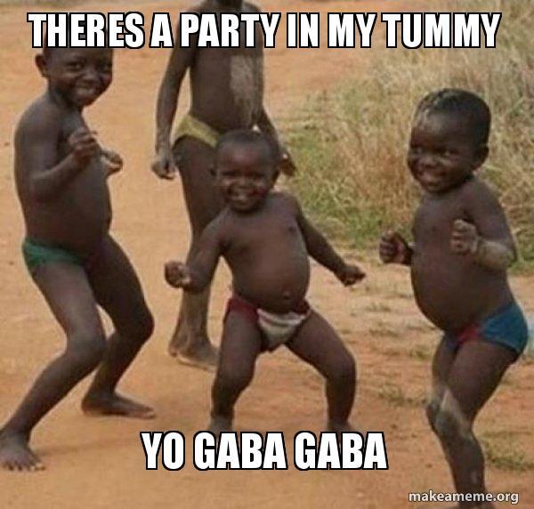 THERES A PARTY IN MY TUMMY YO GABA GABA - Dancing Black Kids