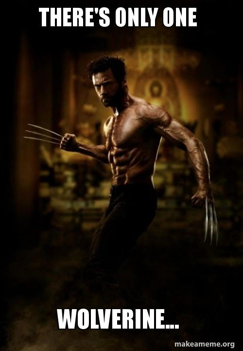 Theres Only One Wolverine Make A Meme