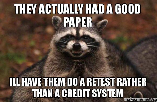 retest thesis A good example of a failure to apply the definition of reliability correctly is provided by the cold retest method involves two separate administrations of.