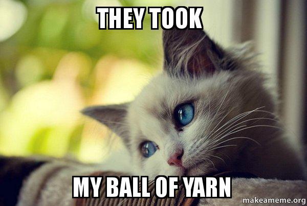 Cat Yarn Meme