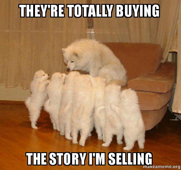 Dog Telling Story