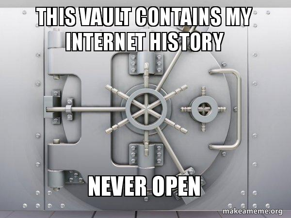 This vault contains my internet history NEVER OPEN - Reddit original