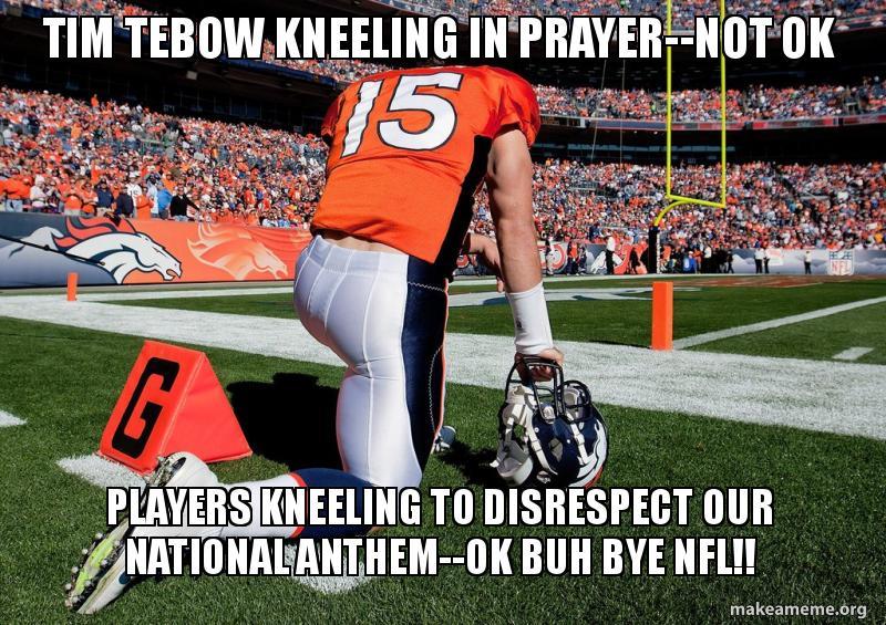 tim tebow kneeling 59c87c tim tebow kneeling in prayer not ok players kneeling to