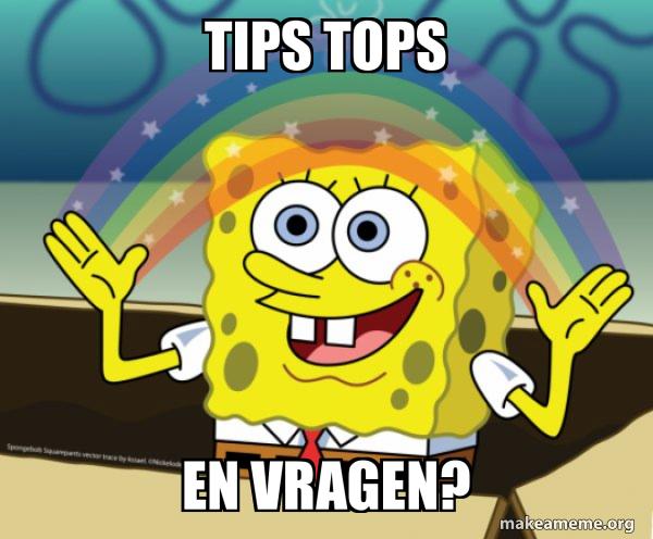 Tips Tops En Vragen Rainbow Spongbob Make A Meme