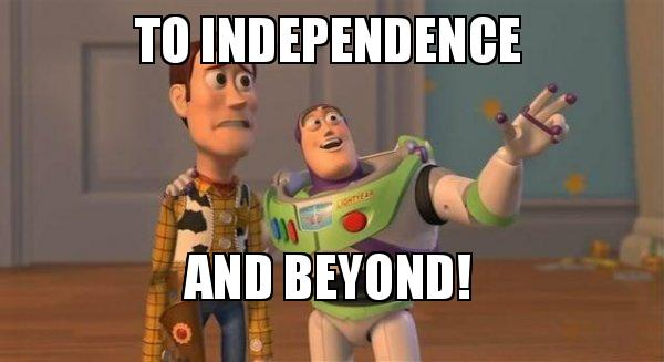 Image result for to independence and beyond