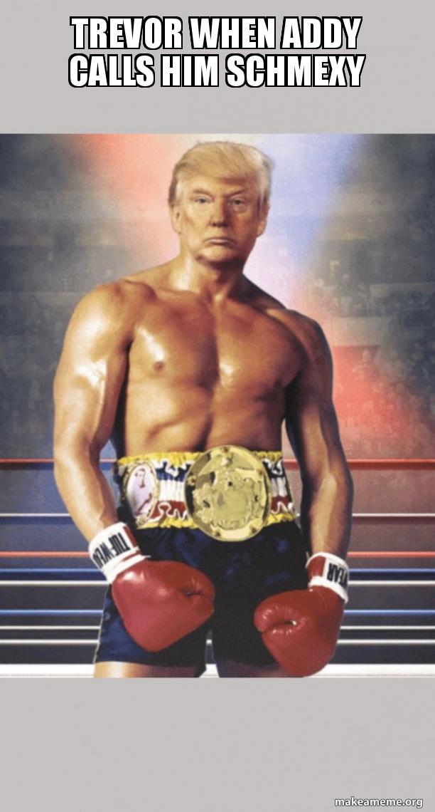 Trump on Rocky's Body meme