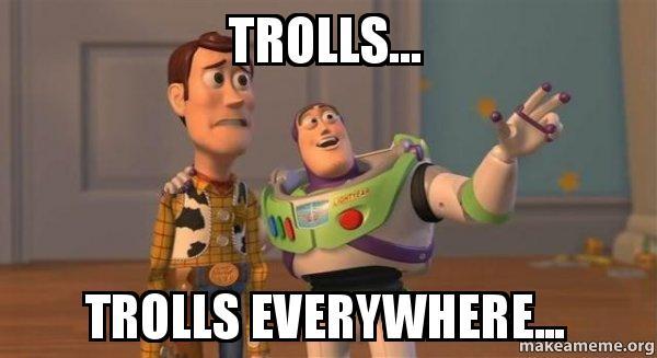 Image result for trolls trolls everywhere